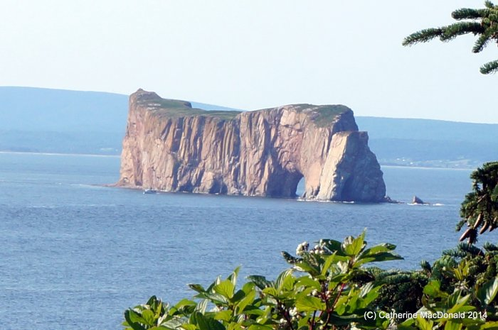 View of Perce Rock from Bonaventure Island